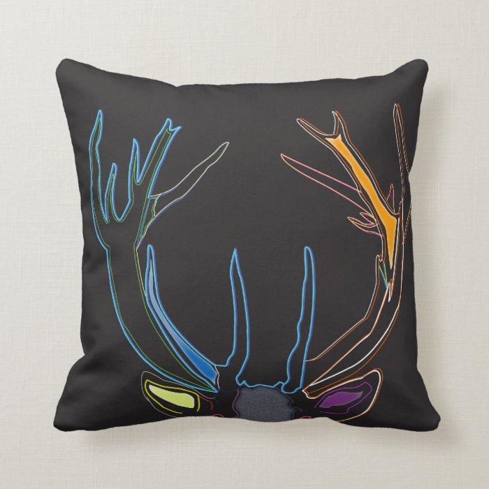 Antler Throw Pillow : Stag Antlers throw Pillow Zazzle