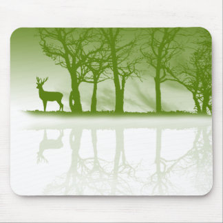 Stag At Dusk Mouse Pads