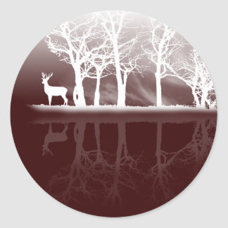 Stag At Dusk Sticker