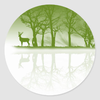 Stag At Dusk Stickers