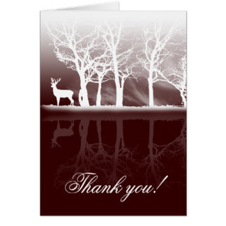 Stag At Dusk Thank You Card