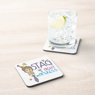 Stag Bachelor Party Beverage Coaster