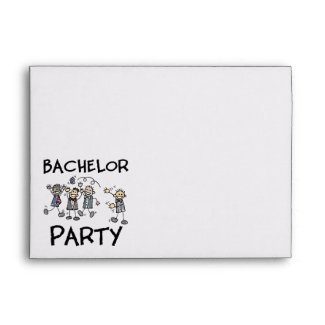 Stag Bachelor Party Envelopes