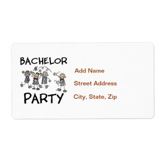 Stag Bachelor Party Label