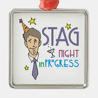 Stag Bachelor Party Metal Ornament