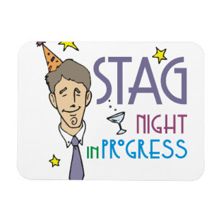 Stag Bachelor Party Rectangle Magnets
