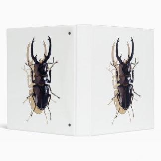 """Stag beetle"" Insect Watercolor Art Vinyl Binder"