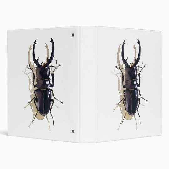 """Stag beetle"" Insect Watercolor Art Binder"