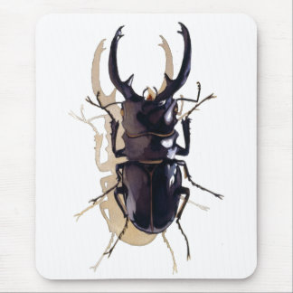 """""""Stag beetle"""" Insect Watercolor Art Mouse Pad"""