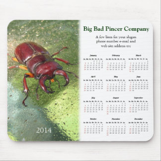 Stag Beetle promotional calendar ~ mousepad