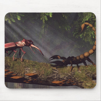 Stag Beetle Versus Scorpion Mouse Pad
