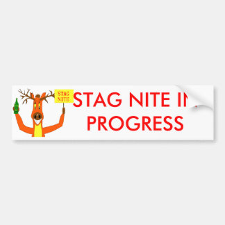 Stag Car Bumper Sticker