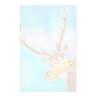 stag cartoon colourful stationery