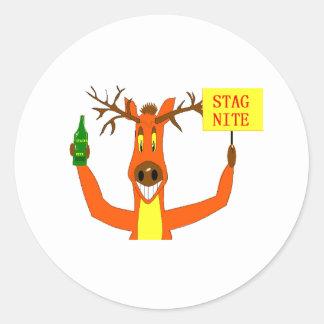 Stag Classic Round Sticker