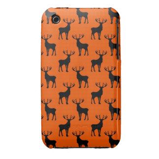 Stag Deer on Bright Orange iPhone 3 Case-Mate Case