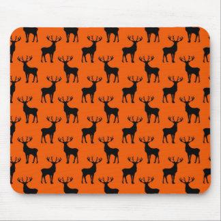Stag Deer on Bright Orange Mouse Pad