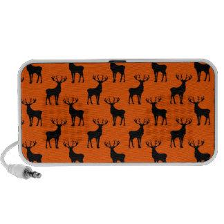 Stag Deer on Bright Orange Travelling Speaker