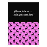 Stag Deer on Pink Personalized Announcements
