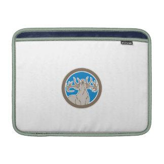 Stag Deer Roaring Circle Retro MacBook Air Sleeve