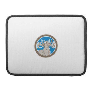Stag Deer Roaring Circle Retro MacBook Pro Sleeves
