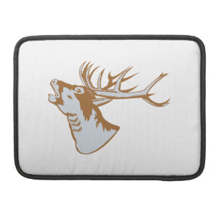 Stag Deer Roaring MacBook Pro Sleeves