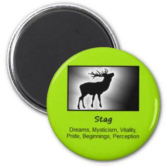 Stag Deer Totem Animal Spirit Meaning 2 Inch Round Magnet