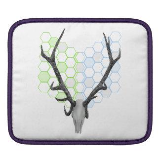 Stag Deer Trophy Antlers Honeycomb Pattern iPad Sleeve
