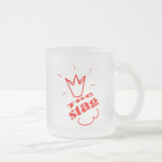 Stag Frosted Glass Coffee Mug