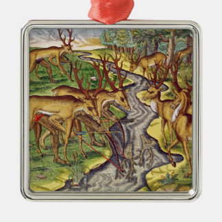 Stag Hunt, from 'Brevis Narratio' Christmas Tree Ornaments