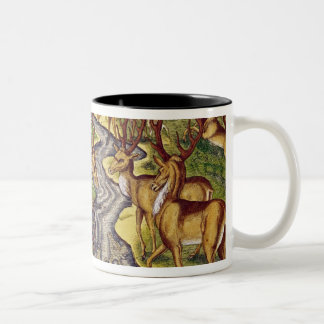 Stag Hunt, from 'Brevis Narratio' Two-Tone Coffee Mug