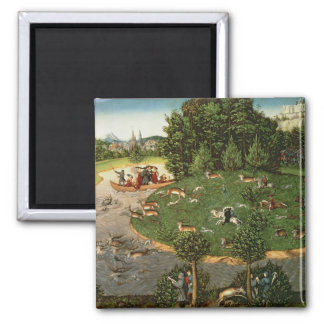 """Stag Hunt of Elector Friedrich III the """"Wise"""" Fridge Magnets"""