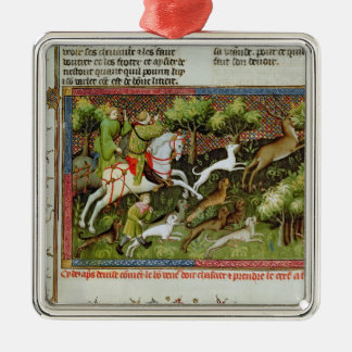 Stag Hunting, from the Livre de la Chasse Ornament