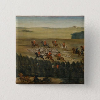 Stag-hunting with Frederick William I of Prussia Button