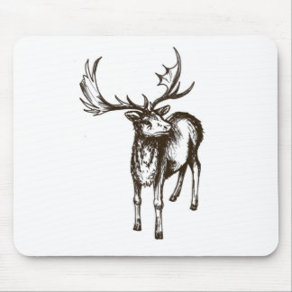 Stag illustration mouse pad