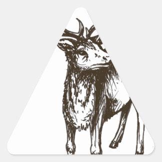 Stag illustration triangle sticker