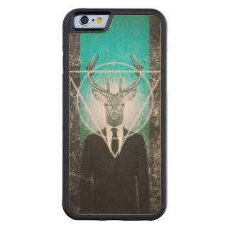 Stag in suit carved® maple iPhone 6 bumper