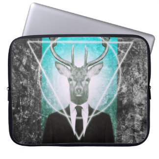 Stag in suit computer sleeve