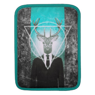 Stag in suit iPad sleeves