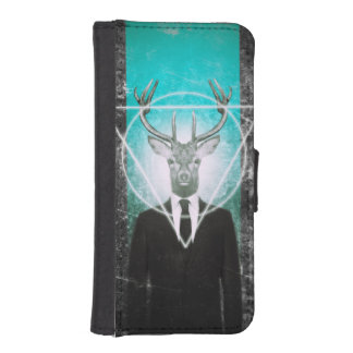 Stag in suit iPhone 5 wallet
