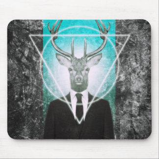 Stag in suit mouse pad