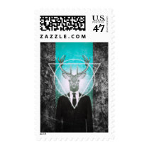 stag, classy, triangle, cool, stag in suit, vintage, original, art, hipster, stamp, 90s, shapes, buck, animal, moose, graphic, design, creative art, photography, wild, animals, postage, Stamp with custom graphic design