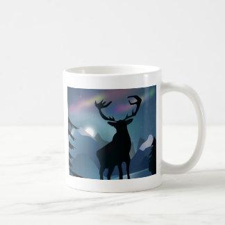 Stag in the Aurora Coffee Mug
