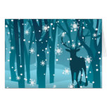 Stag in Winter Forest2 Greeting Card