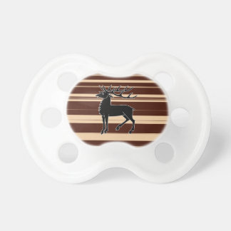 Stag isolated on stripey background pacifier