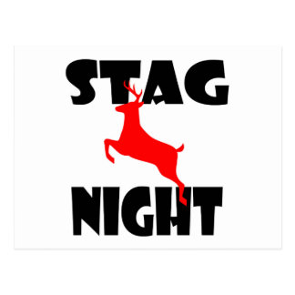 stag night postcard
