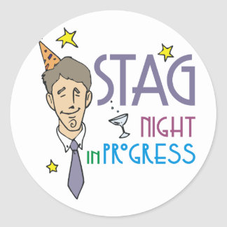 Stag Night Stickers