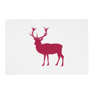 Stag or Bacherlor's Party - European Red Deer Placemat