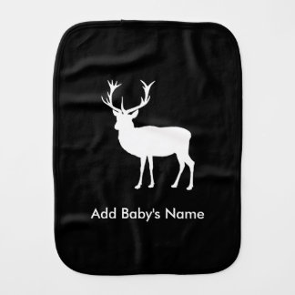 Stag Party - Elegant Drawing of a Stag Burp Cloth