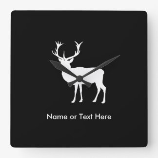 Stag Party - Elegant Drawing of a Stag Square Wall Clock