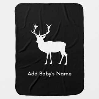 Stag Party - Elegant Drawing of a Stag Swaddle Blanket